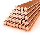"""Copper Round Bar - 1/4""""-5/8"""" Diameter Milling, Welding, Metalworking Copper Rod"""