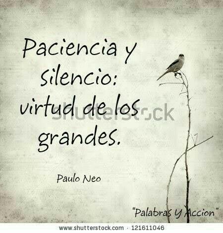 Paciencia silencio