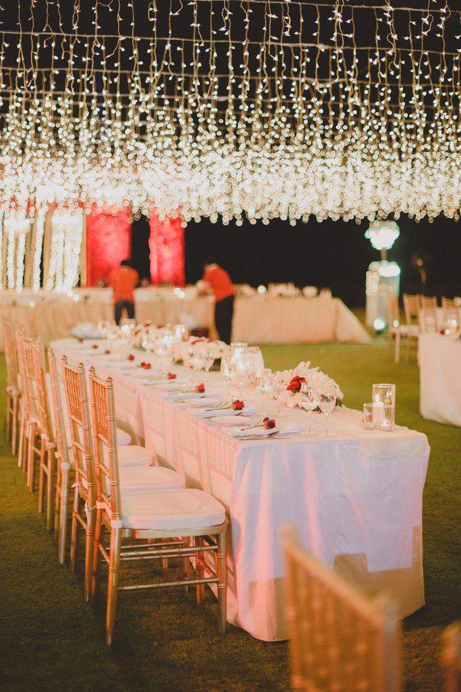 Beautiful lightings // Indian Wedding at Conrad Bali by Terralogical