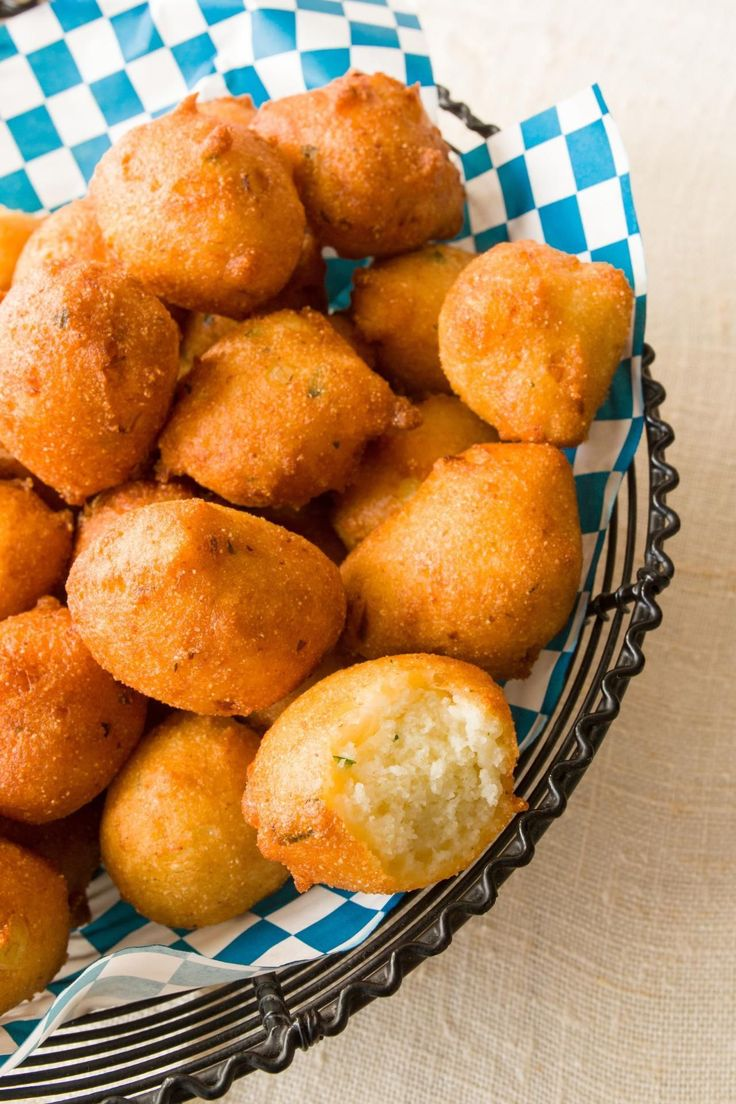 Try making the recipes at home and let us know what you think! Photograph by Robert S. Cooper By Dora Charles Hushpuppies Serves 6 Does anyone not love hushpuppies?  Everyone I know is crazy for these deep-fried cornmeal cakes, and I am too.  Use an electric fryer with a basket or a Dutch oven with a