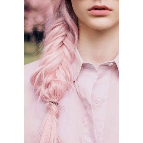 Loose Fishtail Braid for Girls, Long Hair ❤ liked on Polyvore featuring hair, pictures, hairstyles, cabelos and pink