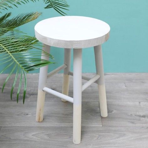 Small Grey Wooden Decorative Table at lisaangel.co.uk