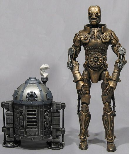 R2D2 and C3PO as steampunk characters