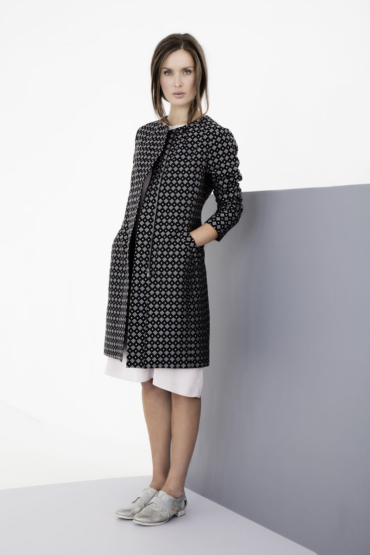 Sleek, patterned coat by Carolyn Donnelly The Edit