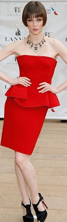 Coco Rocha: Dress – Lanvin  Shoes – Christian Louboutin