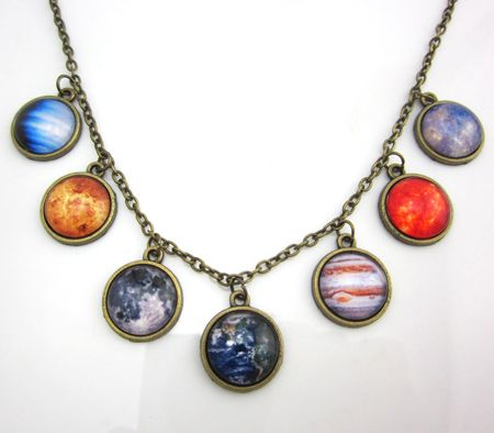 1 pc New Design Solar system necklace, planet universe galaxy necklace, antique brass pendant, glass dome necklace-in Pendant Necklaces from Jewelry on Aliexpress.com   Alibaba Group
