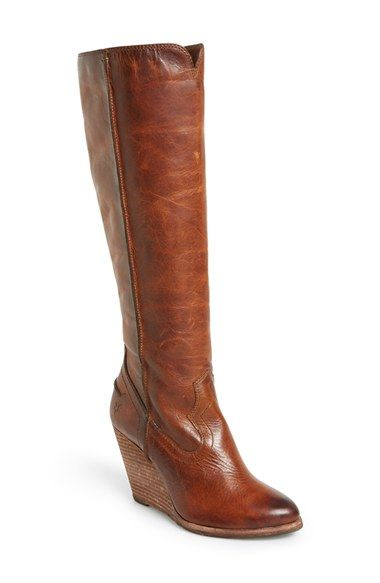Frye 'Cece' Tall Wedge Boot (Women) available at #Nordstrom