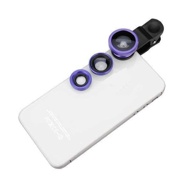 Wallmart.win Universal 3 in 1 Clip Wide Angle Macro Fisheye Lens External Camera Lens For Mobile Phone: Vendor:…