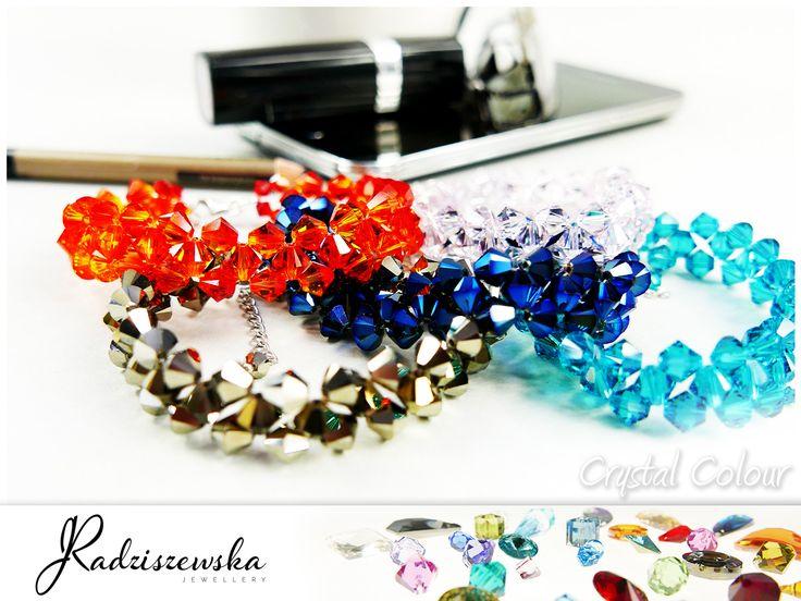 Piękne bransoletki z kryształami Swarovskiego. Biżuteria Jolanta Radziszewska