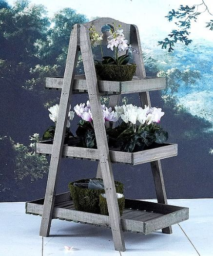 3 Tier Rustic Plant Stand