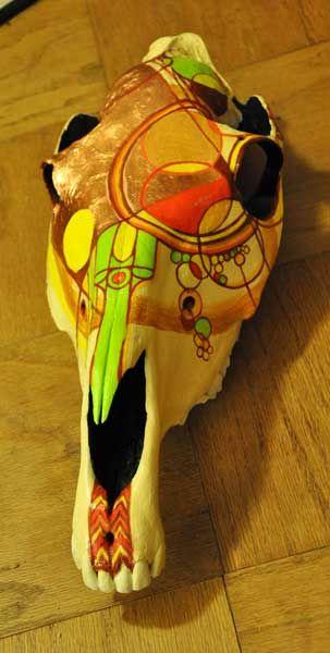 Painted animal skulls | Painted Animal Skulls by Olva Stewart Pharo