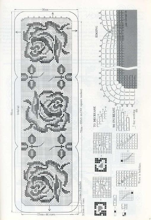 Roses runner filet work diagram only