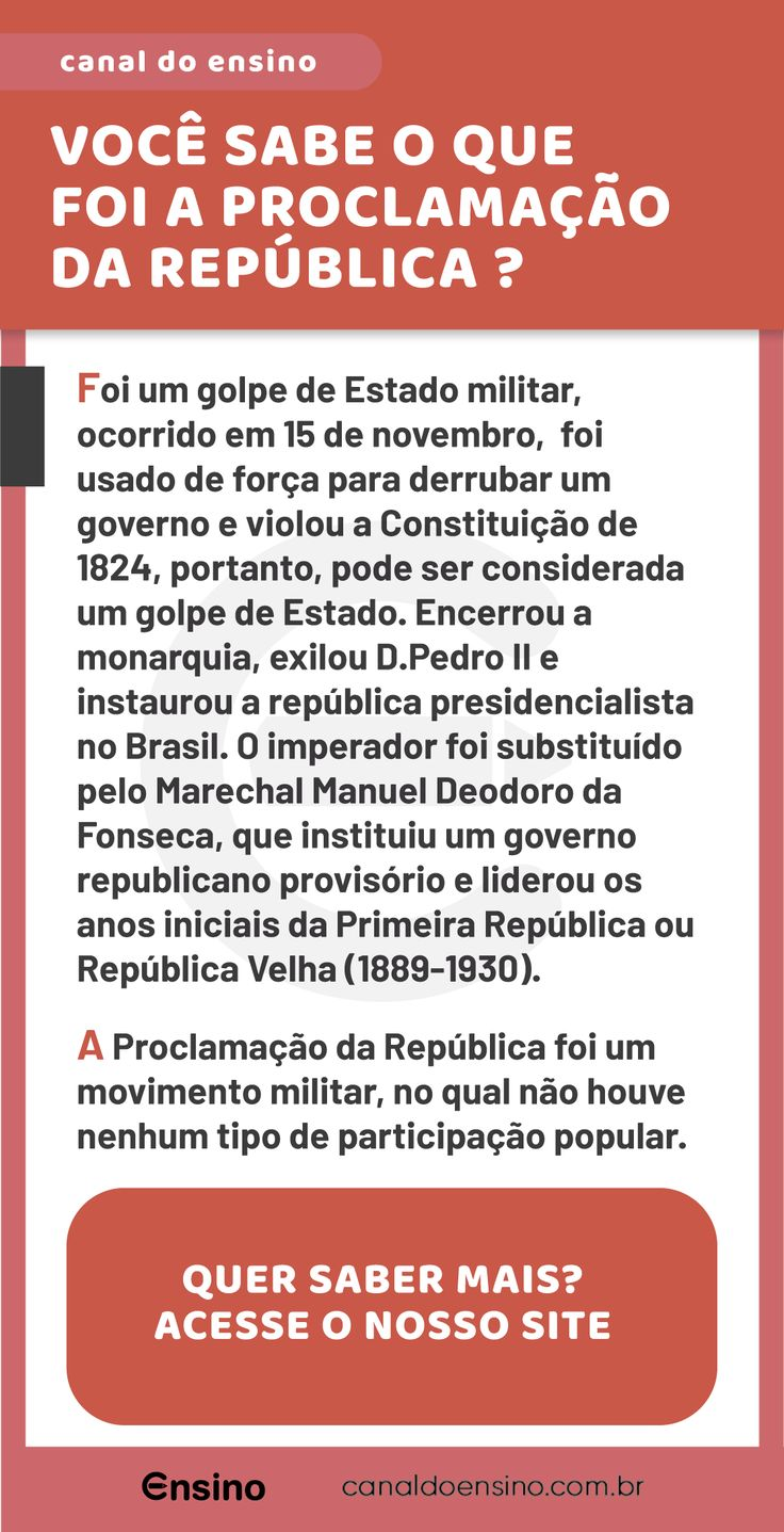 Vestibular: Entenda a Proclamação da República