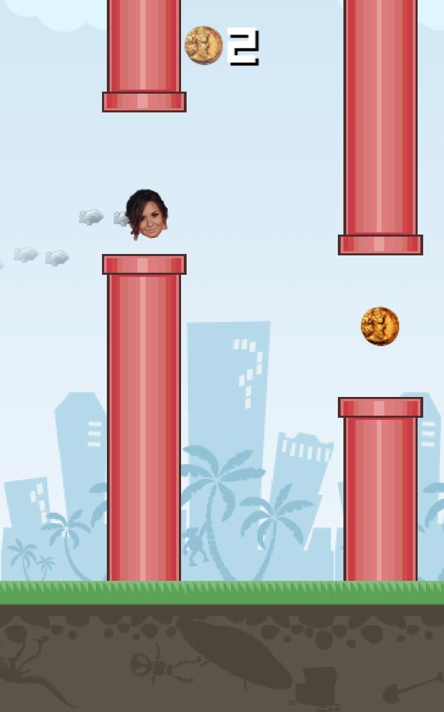 It's Flappy Demi Lovato! Made with Flying Avatar! Create ANY Avatar in this new epic new game! Make custom characters and play with them in the game!  Coming Soon to the App Store!!  #flyingavatar #demilovato #flappybird #game #highscore  http://www.flyingavatar.com