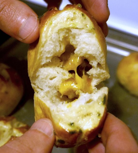 stuffed pretzel buns