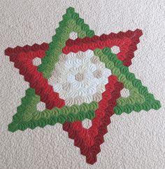 patchwork hexagons patterns quilt - Google Search