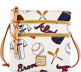 Dooney & Bourke MLB Braves Triple Zip Crossbody