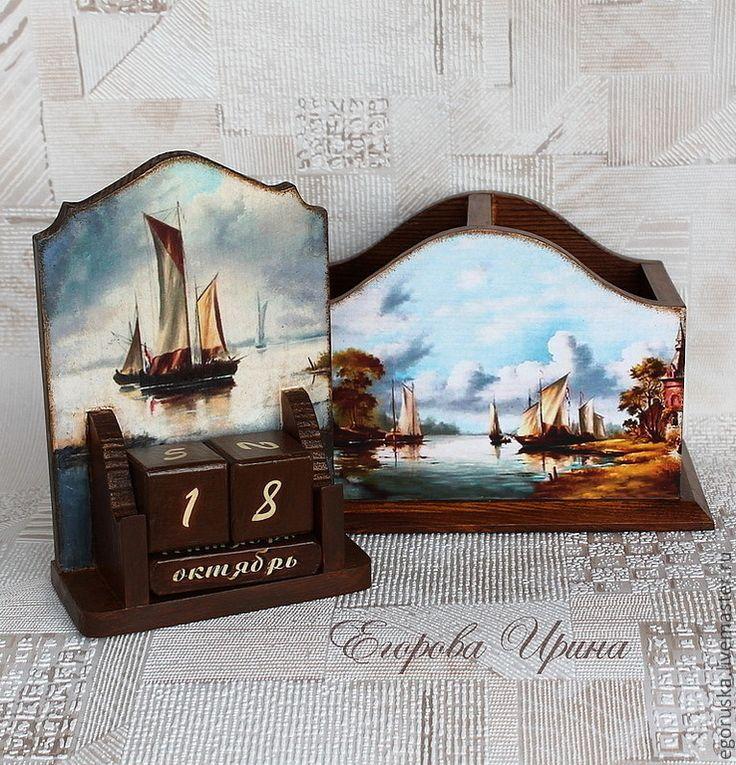 Купить Вечный календарь Старая Голландия - календарь, календарь ручной работы, календарь декупаж