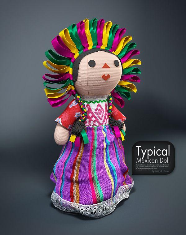 Mexican Doll by Antonio Luna, via Behance