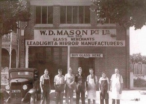 The old Mason Glass Merchant Building which is Now Masons of Bendigo Restaurant