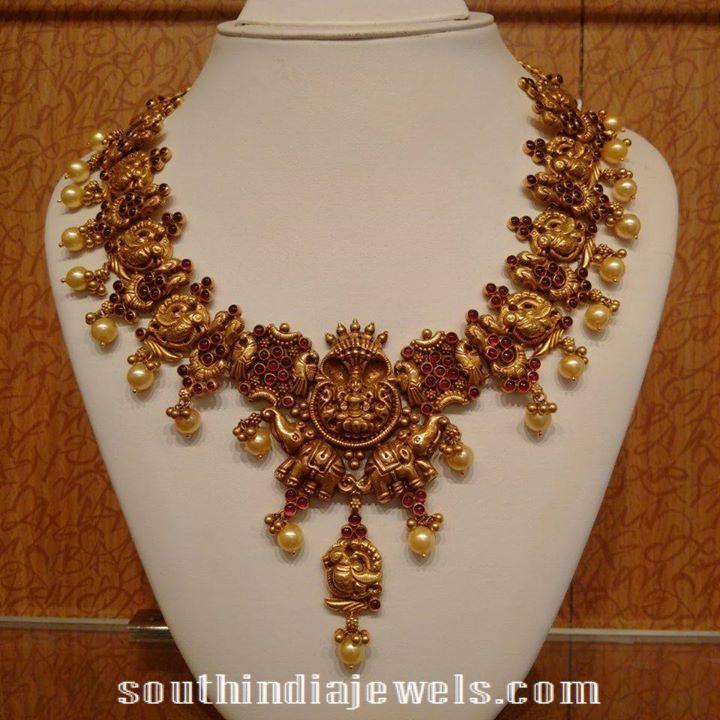 Ruby Nakshi Necklace latest design 2015