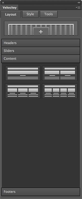 Velositey - Website Layout Builder for Photoshop