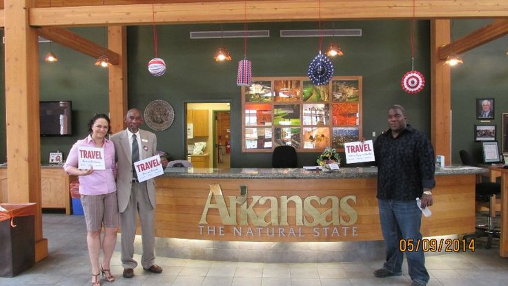 These lovely folks enjoy refreshments provided by the Arkansas Welcome Center in West Memphis, AR during National Travel & Tourism Week! #NTTW14 #VisitArkansas
