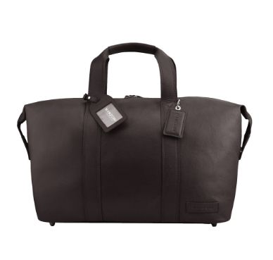 Manzoni Leather Overnighter Bag: Brown | $279.00