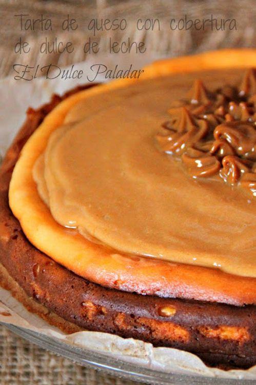 Tarta de queso con dulce de leche - Pecados de Reposteria