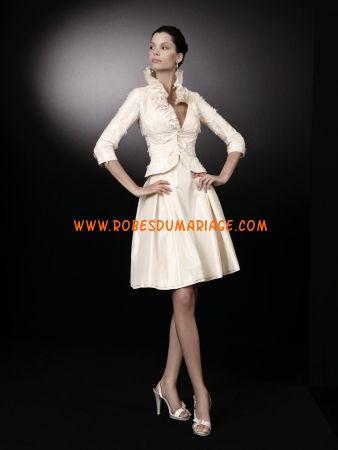 Peter Langner robe de mariée 2012 glamour originale glamour avec manche courte