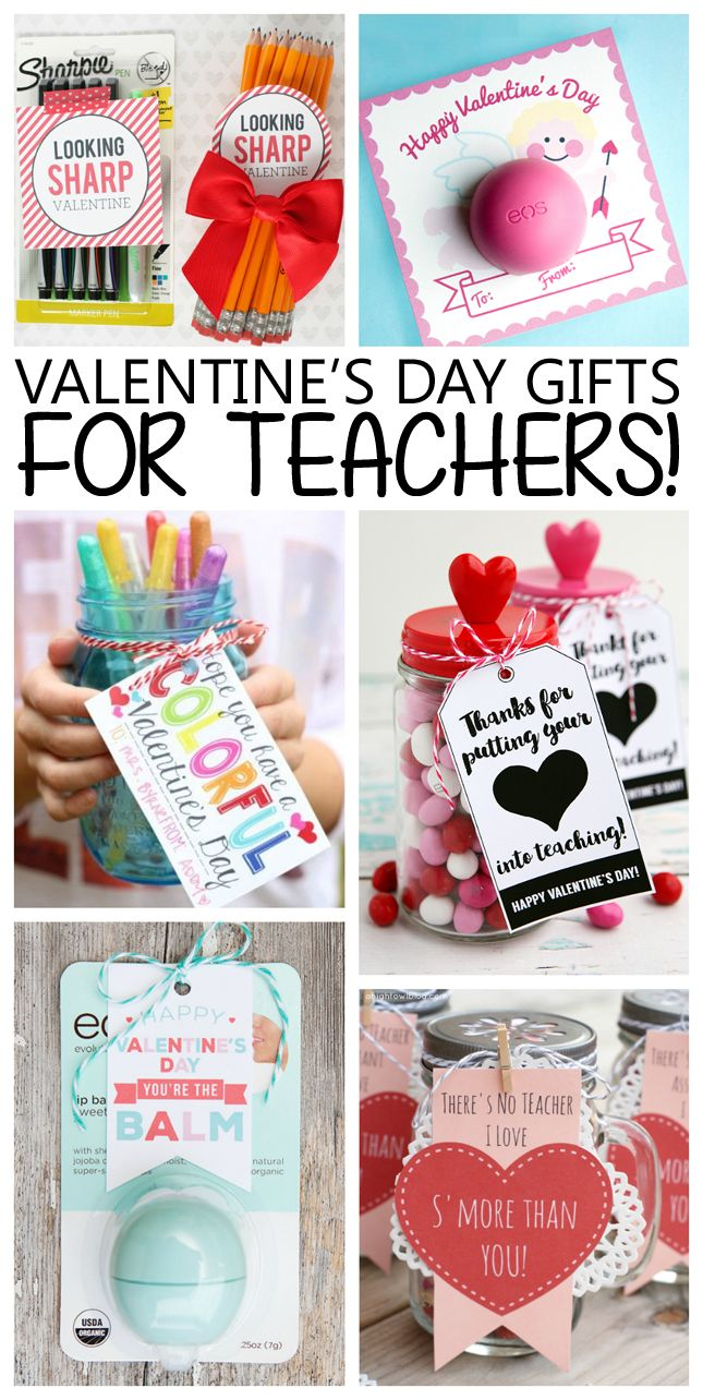 Valentine's Day Gifts for Teachers! Too fun and easy to put together.
