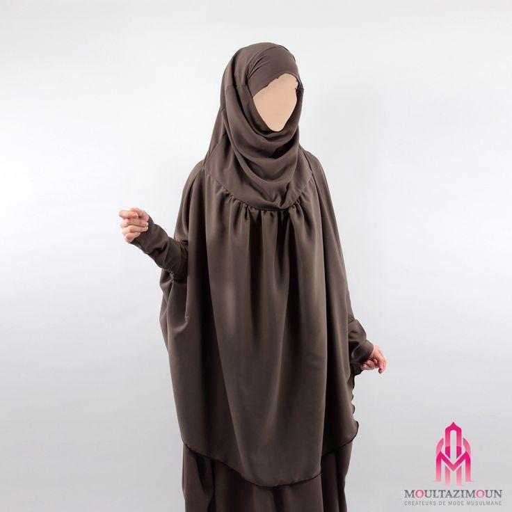 Khimar à fronces à manches - Al Moultazimoun #Overhead #khimar #jilbab #cardigan…