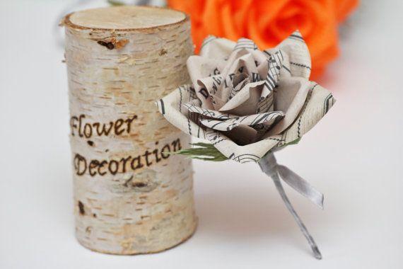 grooms flower boutonniere wedding boutonniere by FlowerDecoration