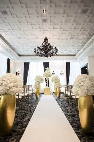 Black and Gold Wedding Ideas. See more from White Mischief at http://bit.ly/1ig57mv