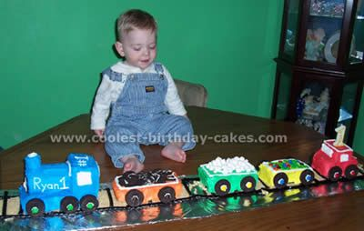 submitted by Julie D. Alvin TX  made using loaf pans.    Thinking using mini loaf pans would be perfect to have each car be a personal cake for each guest.
