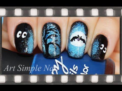 Маникюр на Хэллоуин (рисунки на ногтях) | Halloween Nails by Art Simple Nail