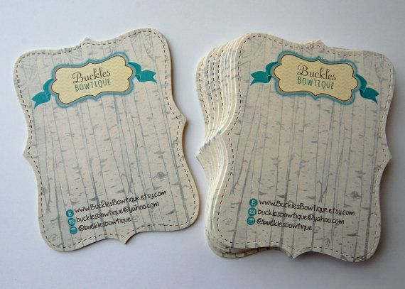 40 Elegant Display Cards  holds clips or hair by PackagingBoutique