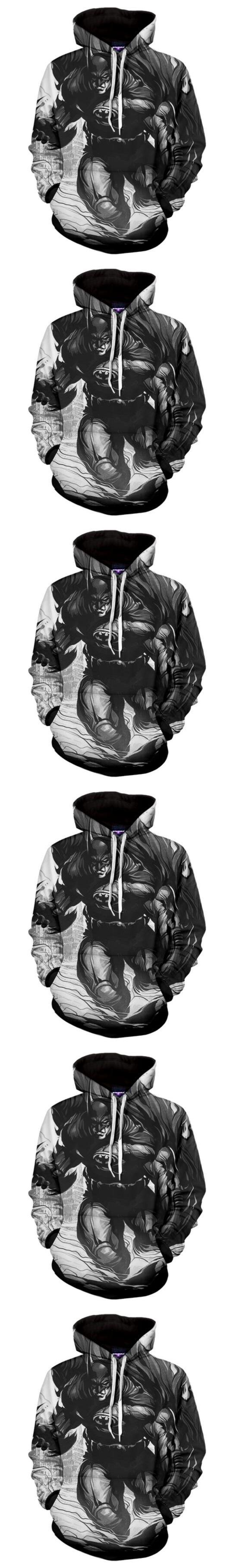 2017 NEW FASHION MEN WOMEN white dark grey Bat M HOODIE 3D Hoodie Sweatshirts Pullovers Autumn Tracksuit Winter Loose Thin Hoody