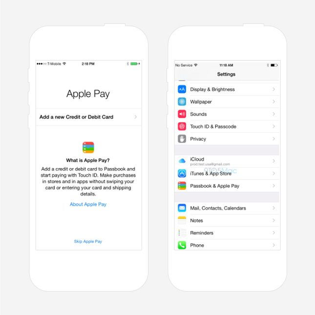Store all of your credit card info with Apple Pay.