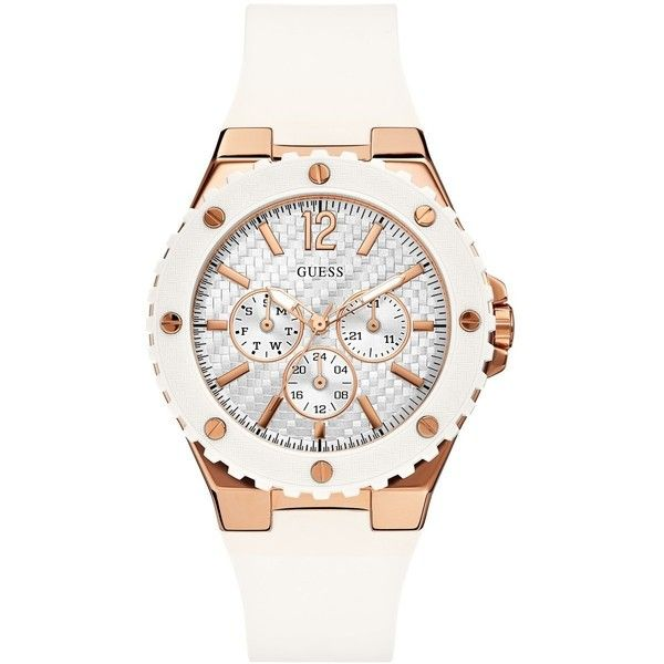 GUESS Women's U0452L1 Sporty Oversized Multi-Function Watch with... found on Polyvore