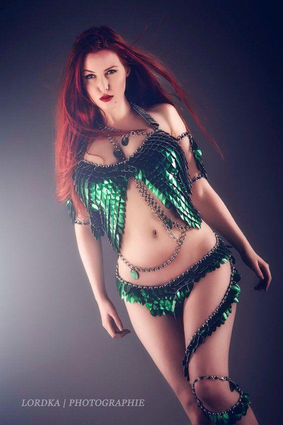 Poison Ivy (Grün) - Chain-Fashion Mode der Extraklasse (Unikat und Limitiert) - Kostüm