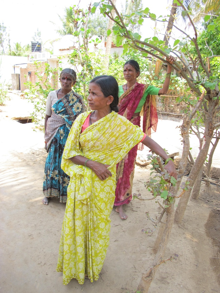 Chikkamma from Manchagondanahalli, Karnataka used her Rs 10,000 ($200) loan to build a toilet in front of her house