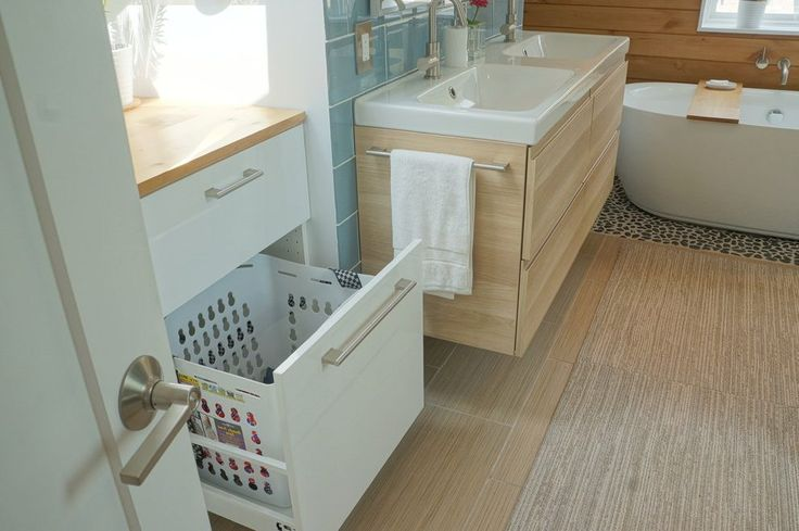 Laundry hampers for kid bathroom scandinavian with wood wall