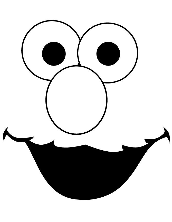 elmo face template cut out coloring page