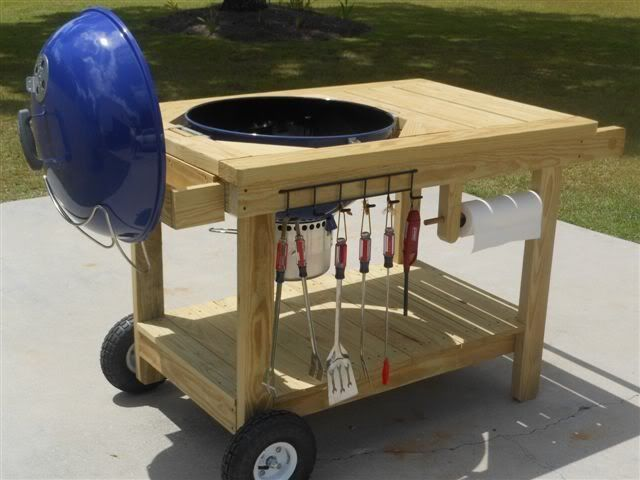 How To Build A Weber Grill Table - WoodWorking Projects & Plans