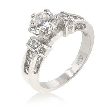 Accented Cubic Zirconia Anniversary Ring