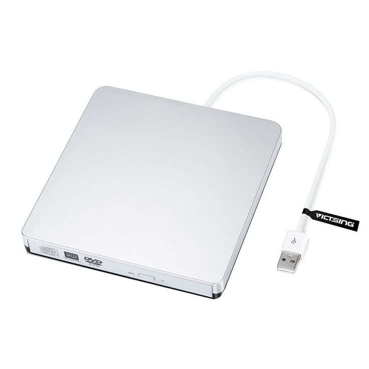 VicTsing Masterizzatore Unità di Scrittura CD / DVD-RW Esterno Optical Drive USB 2.0 con Cavo, Ultra Sottile Leggero Compatto Portatile Support Boot USB CD ROM, per Apple MacBook, MacBook Pro, MacBook Air o Altri PC / Laptop / Desktop, Argento: Amazon.it: Elettronica  SCONTO 68% valido per l'11 Novembre 2016