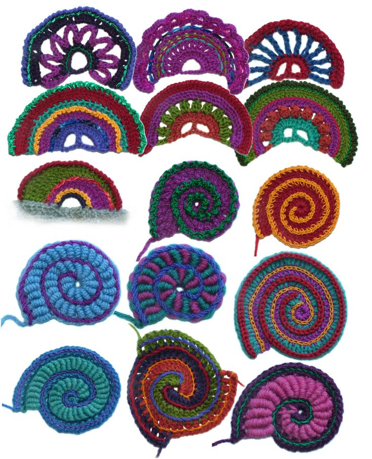 cloth spiral art | Crochet Scallops & Spirals – Ebook | Renate Kirkpatrick's Freeform ...