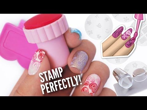 Stamp Your Nails Perfectly!   DIY, Hacks, Tips & Tricks For Nail Art Stamping! - YouTube