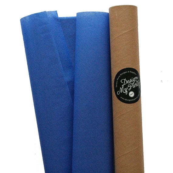 Parade Blue Tissue Paper 40 Sheets by DesignMyPartyShop on Etsy
